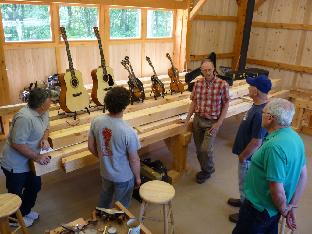 Marty teaches an introduction to Guitar Making Class