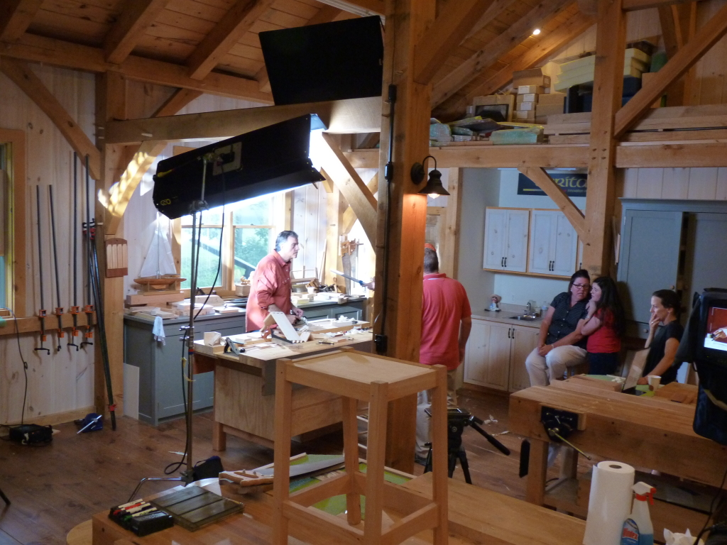 Lights Camera, Action! Woodshop used for MVP Health Care Advertisement